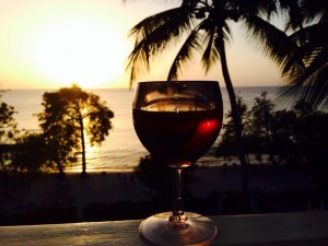 Enjoy a glass of red wine at sunset.....