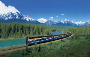 View spectacular scenery of the Rockies from the Rocky Mountaineer