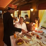 One of the two fine dining  restaurants on board the train