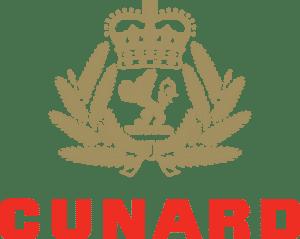 Cunard Logo Stacked Spot gold crest PMS871