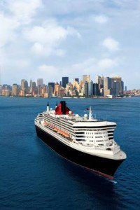 One of the Cunard Ships leaving New York
