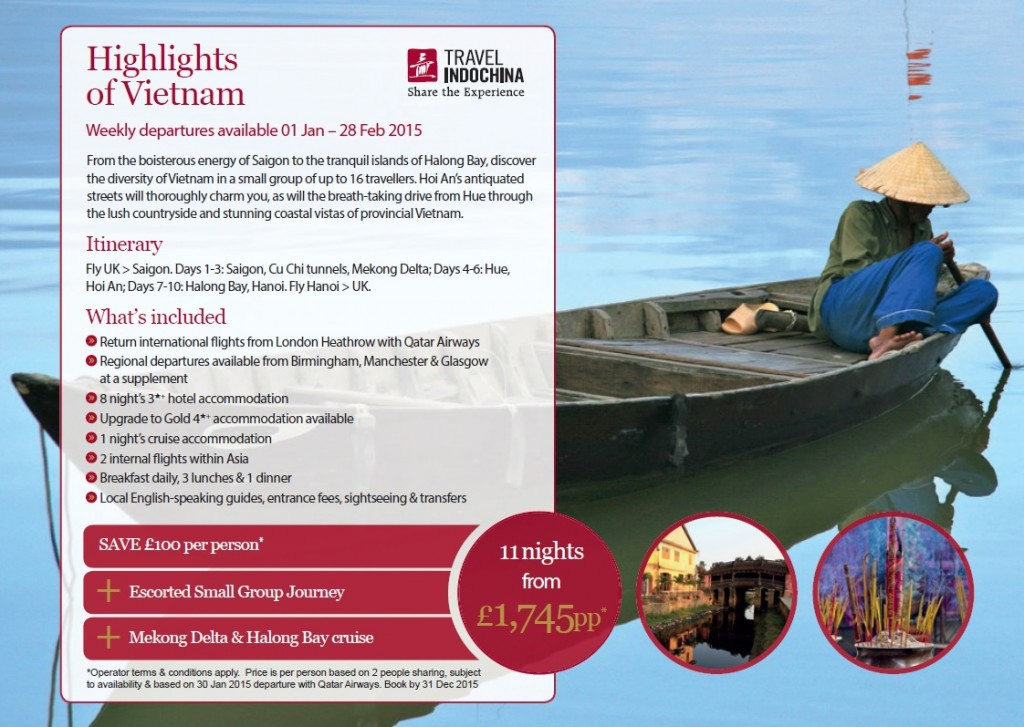 TTNG Travel Indochina exclusive offer