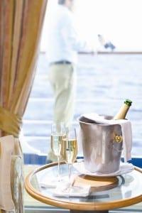 Silversea champagne in cabin