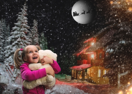 iStock child in snow @ christmasLR