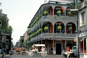 New Orleans Carriage with balcony Tourist board