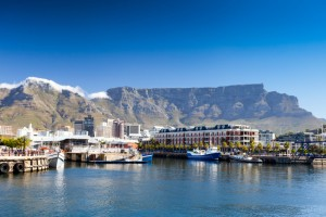 A view of Table Mountain from Cape Town's waterfront